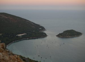 Formentor beach and island